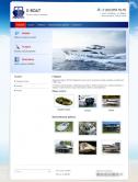 Сайт компании по производству лодок